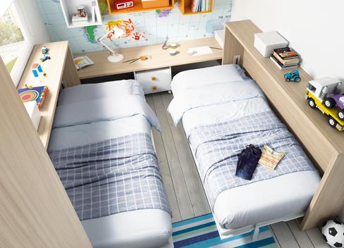Soluciones para hermanos que comparten habitaci n sin - Dormitorios infantiles para dos ...