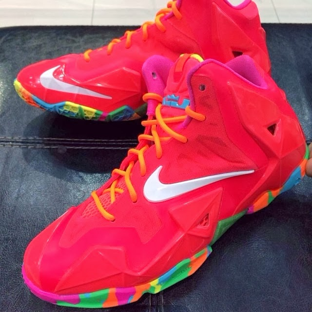 dbfa20ec770 Nike LeBron XI 11 GS 8220Fruity Pebbles8221 8211 First Look ...