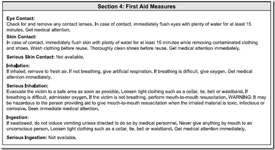 MSDS_ANSI_Section_4