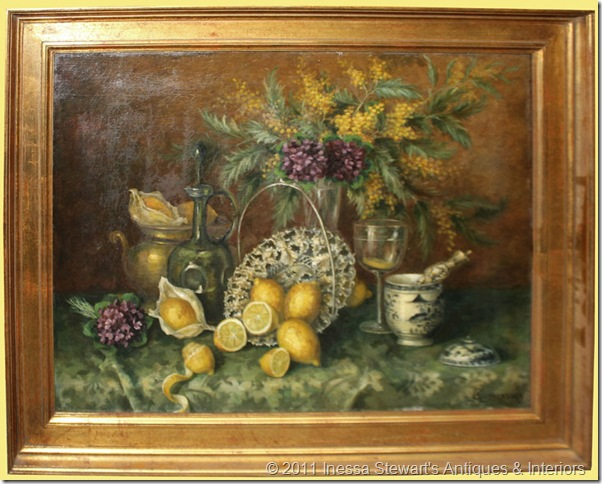 Antique Framed Oil on Canvas