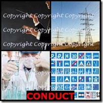CONDUCT- 4 Pics 1 Word Answers 3 Letters