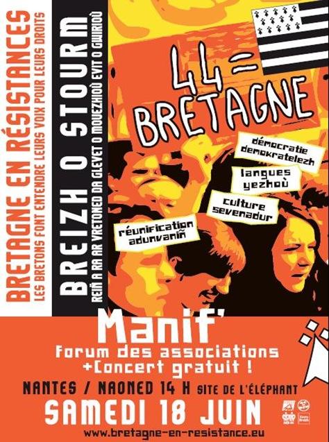 manifestacion en Bretnaha Naoned