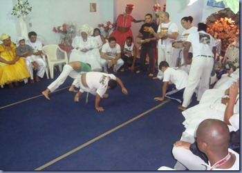 Capoeira no terreiro de Mãe carmen deoxala