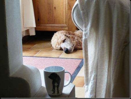 Lulu with mug