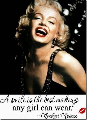 Marylin Monroe e il suo splendido sorriso
