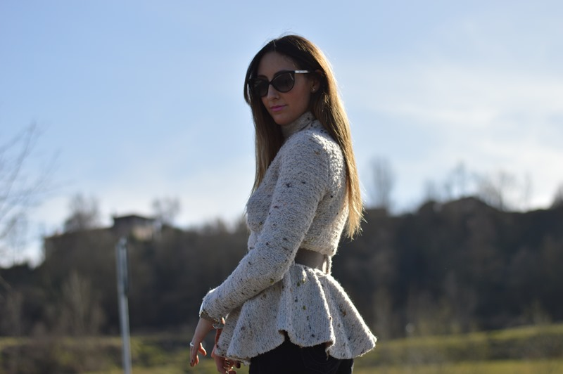 Maison 39, Peplum, come abbinare il peplum, Maison 39 peplum, true religion, true religion pants, Prada, Prada shoes, Prada heels, Dior sunglasses, Stradivairus bag, Stradivarius, Animalier bag, elisa taviti blog, elisa taviti, fashion blogger, fashion blogger italiane, fashion blogger firenze, Primark, Primark necklace