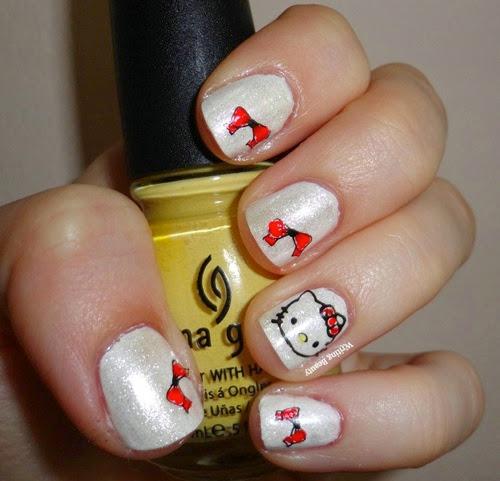 Hello Kitty Nail Art 2