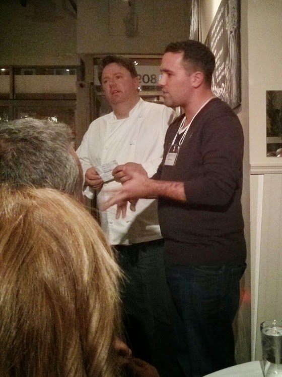 Chef Brian Fowke and John Pullen introduce the dinner