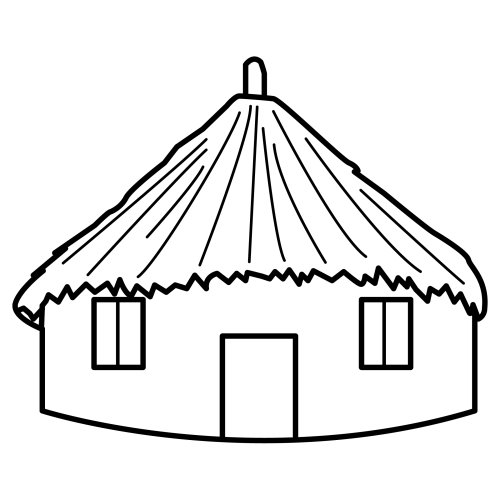 Tipos de viviendas indigenas para colorear  Imagui