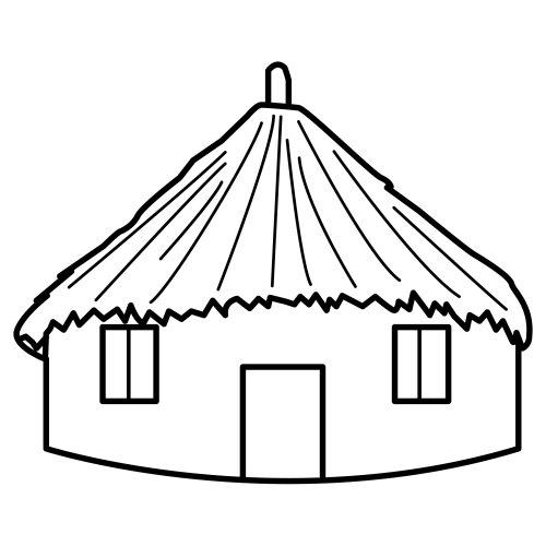 Dibujos para colorear de chozas - Imagui