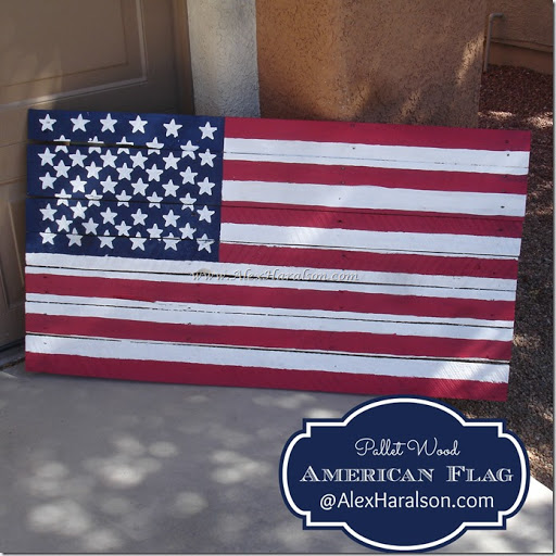 american flag on wood pallet 2