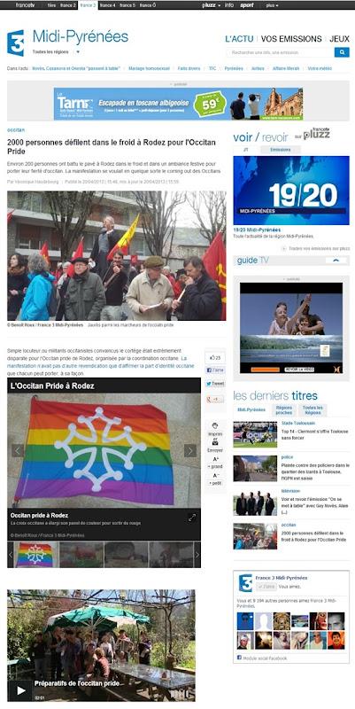 Manifestacion de Rodés France 3 Tolosa