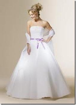 vestido de novia hermosos liston morado