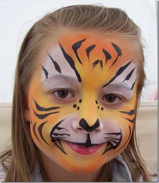 halloween maquillaje tigre