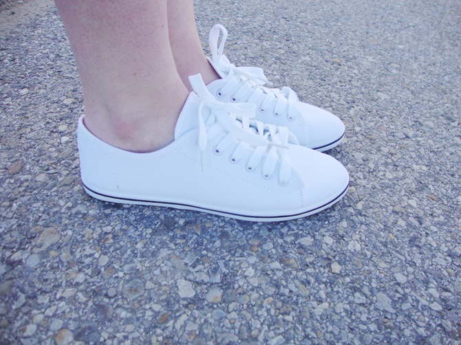 clean white sneakers