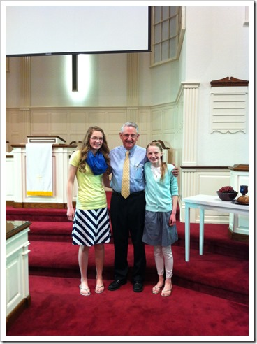 Girls with Pastor Ken