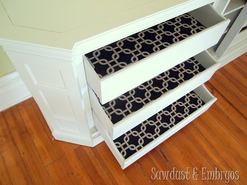 Lining Drawers with Fabric {Sawdust & Embryos}