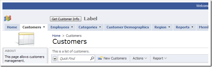 Default Title text displayed under the navigation menu.