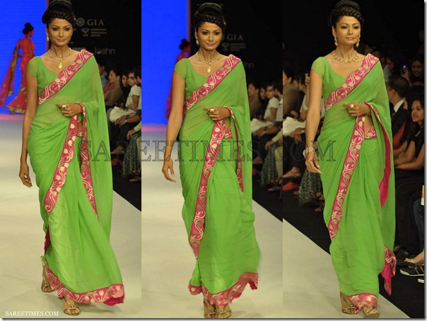 Green_Georgette_Saree