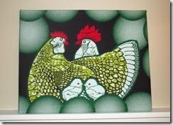 chicken fabric art (1)