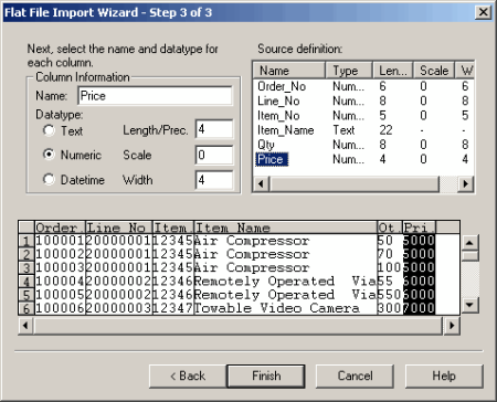 Informatica Analyze the source files