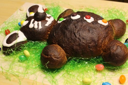 Chocolate Bunny-Bear Bread
