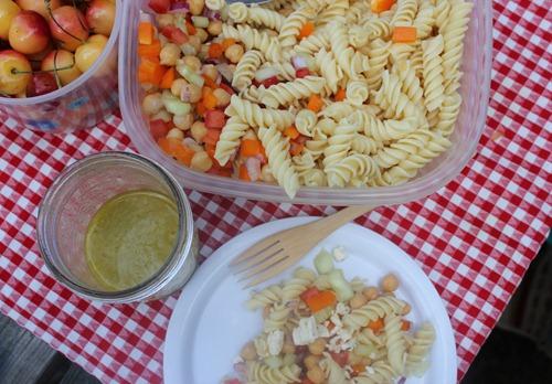 Picnic Pasta Salad with Lemon Vinaigrette