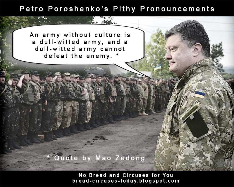 Cc poroshenko dull witted army