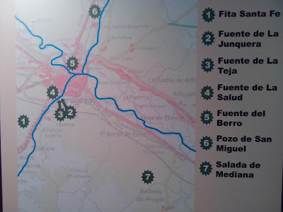 mapa Naturaleza Magica, fuentes curativas de Zaragoza