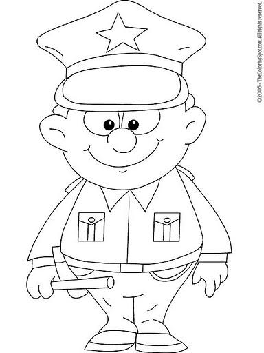 Policias Dibujos Para Colorear on Firefighter Crafts