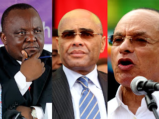 De gauche à droite Antipas Mbusa, Adam Bombole et Léon Kengo. Radio Okapi/Ph. John Bompengo
