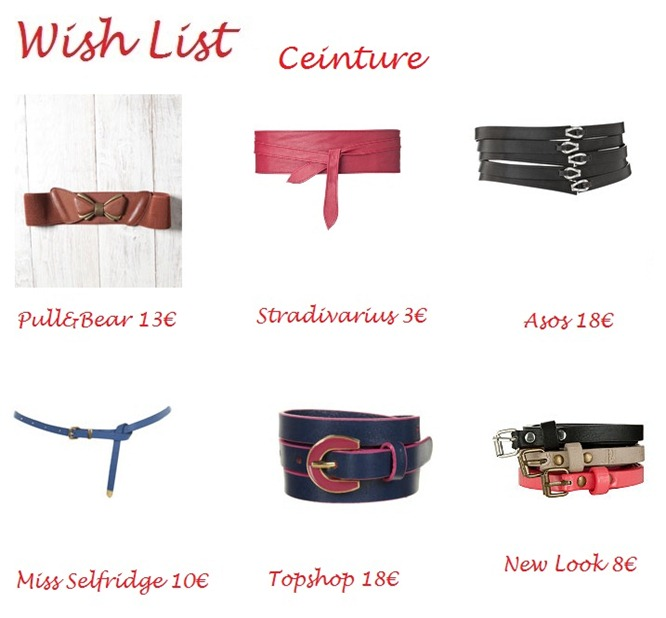 wish list ceinture