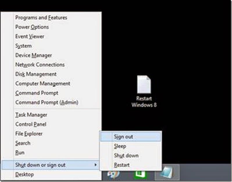 shutdown komputer windows 8.1 dengan cepat
