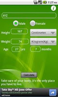 Screenshot of BMI n Fat Calculator