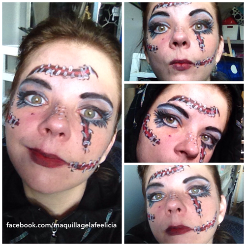 Broken doll face painting
