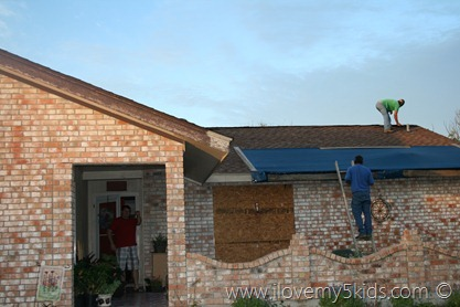 Hail Damaged House