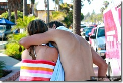 Hug-teen-couple-kissing-cute-romantic-on-road