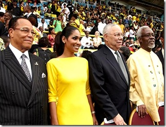 Colin Powell hanging with Farrakhan