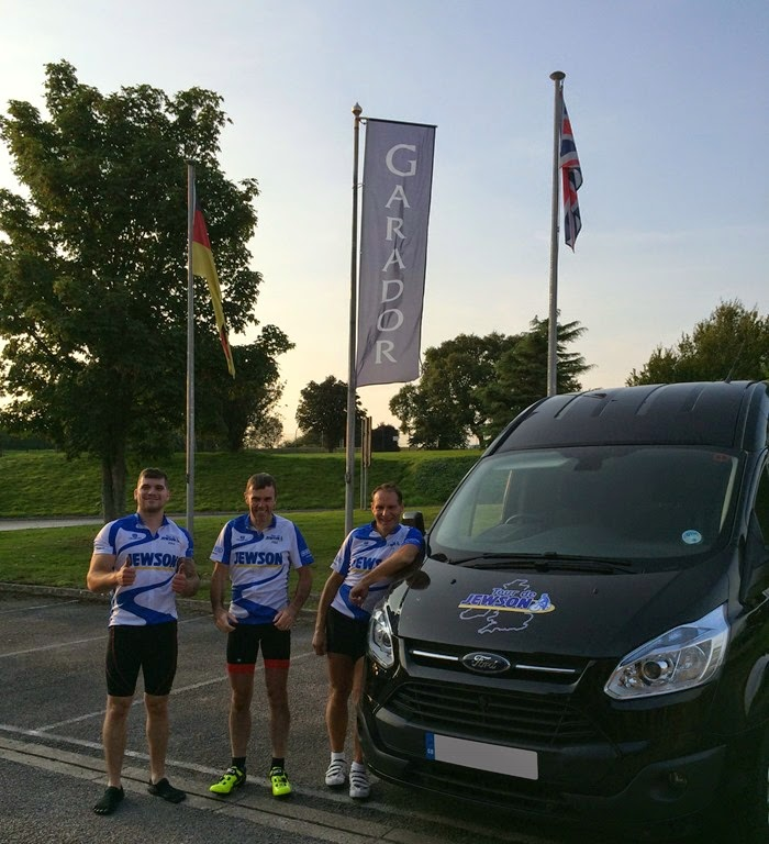 Rob, Simon and Alan after finishing the Tour De Jewson 2014