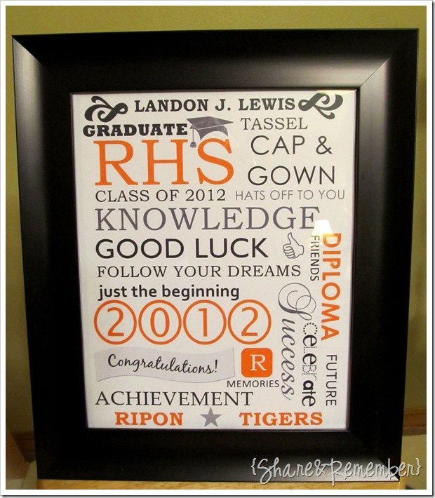 framed graduation subway art