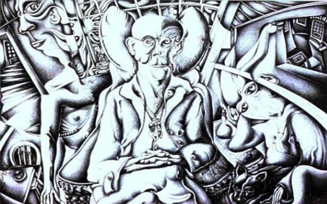 """Illustration zu """"Der Steppenwolf"""" von Wolfgang März"""