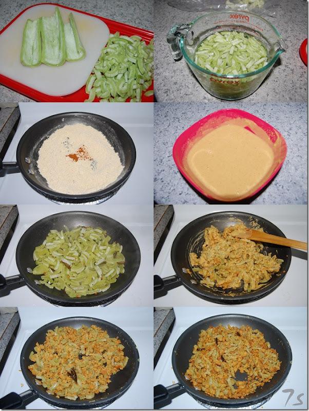 Pudalangai besan fry process