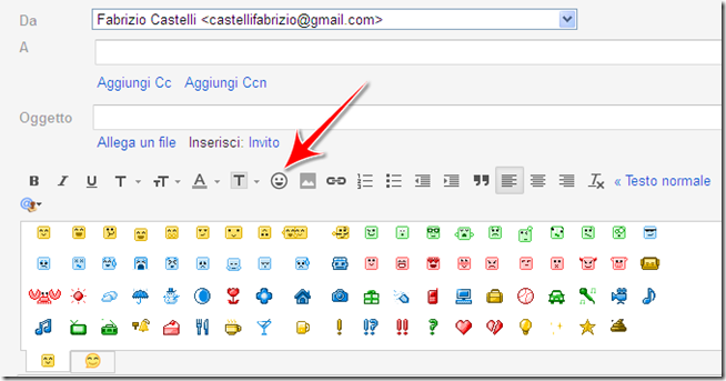 come mettere emoticons mail gmail