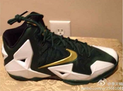 nike lebron 11 pe svsm home 1 01 First Look at Nike LeBron XI (11) SVSM Irish Home PE