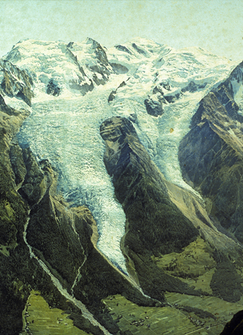 The Bossons glacier in 1900. Photo: H.J. Zumbühl / S.U. Nussbaumer / Collection Paul Payot