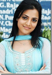 Nisha Agarwal in blue churidar