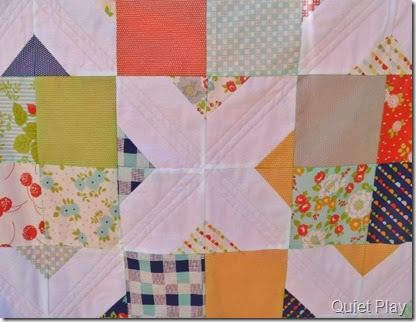 Happy Go Lucky straight line quilting