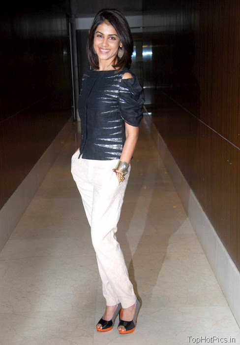 Genelia Hottest Pics in White Pants 6