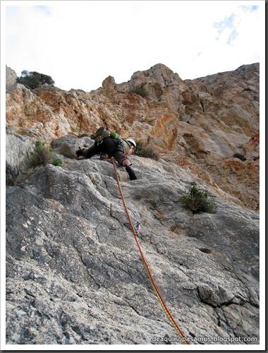 Via Costa Blanca 250m 6c  (6b A0 Oblig) (Peon de Ifach, Alicante) (Fran) 4772
