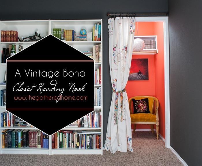 A Vintage Boho Closet Reading Nook - Vivid Blooms